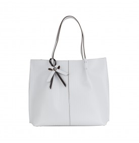 White Civetta Shopping  Bag