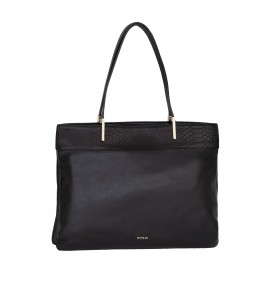 Vanilla black shopping bag