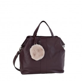 Lumia bordeaux handbag