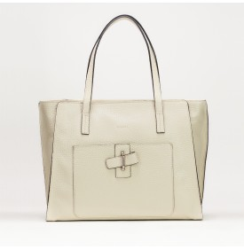 PAPILLON shopping bag Ecru