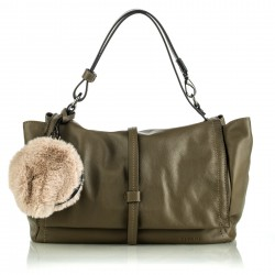 Shoulder bag Felce olive green