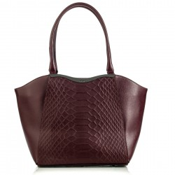 Shopping bag Kenzia bordeaux